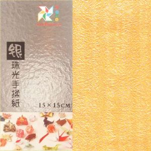 Shoyu Pearlescent yellow, 15cm square, 20 sheets, (KY528)